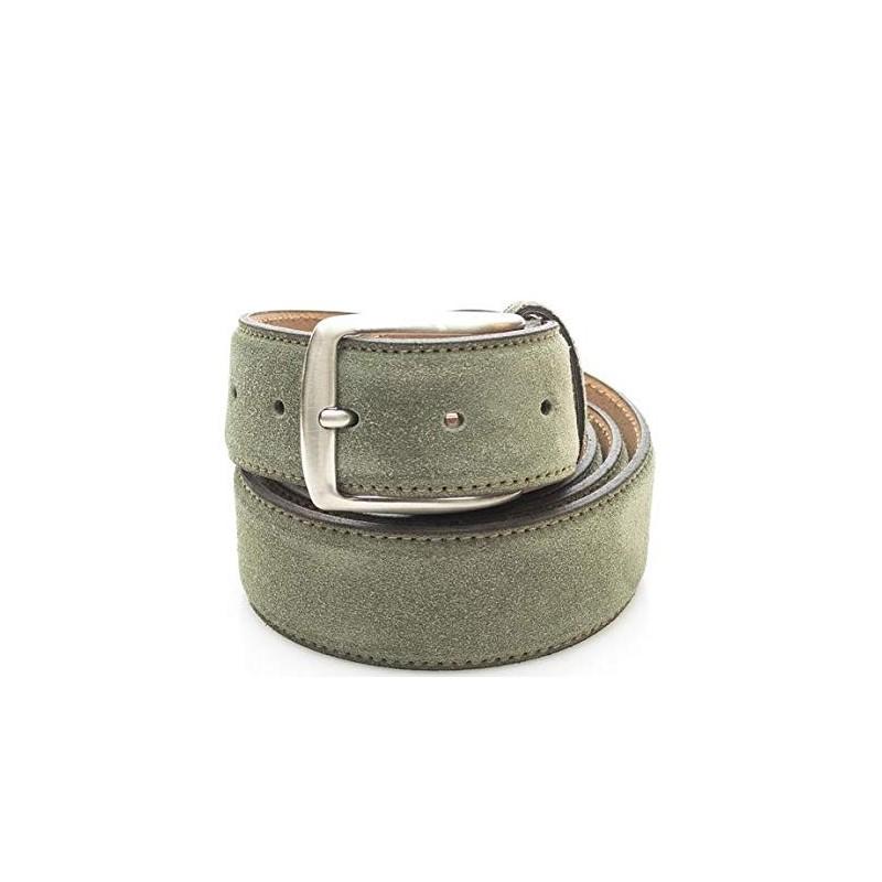 Cintura Uomo Timberland in pelle scamosciata Verde Tg. XL M4100 768