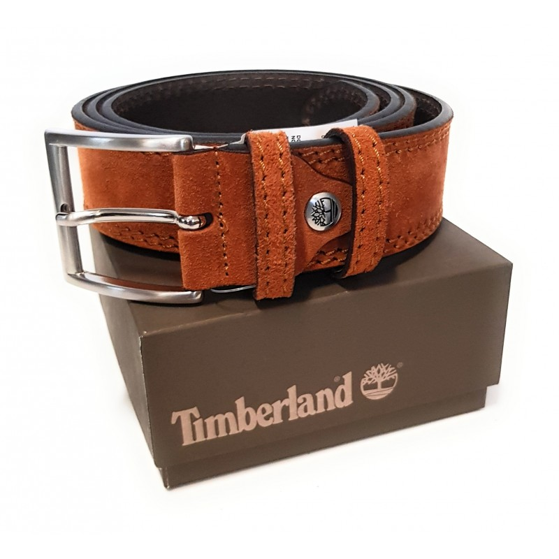 Cintura Uomo Timberland in pelle Nabuk Marrone Tg. XL TB0A23Z4 212