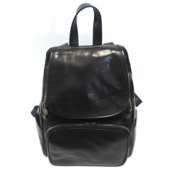 Zaino in cuoio Nero 04,Made in Italy,