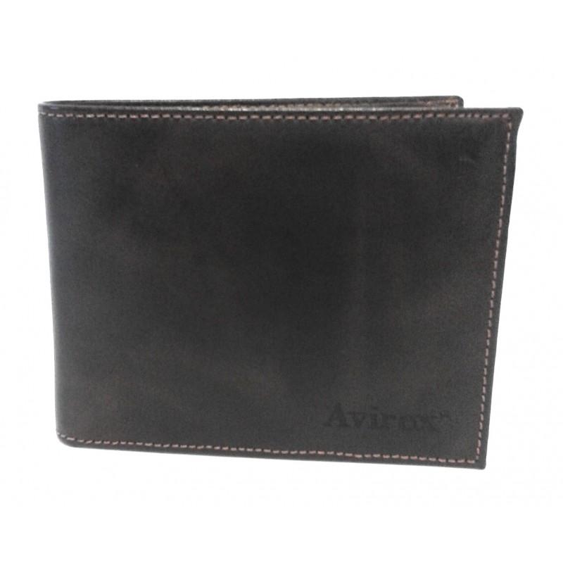 Avirex Arizona Portafoglio Pelle c/patta e portamonete   AA302 Rhum