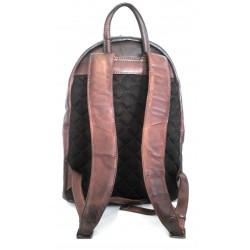 Zaino Vintage in pelle anticata  art 15 Marrone Made on Italy 45x30x15 cm