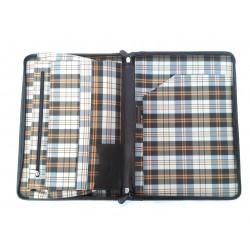 Porta documenti in cuoio art 21 Marrone Coffee Made in Italy 35x25x2 cm