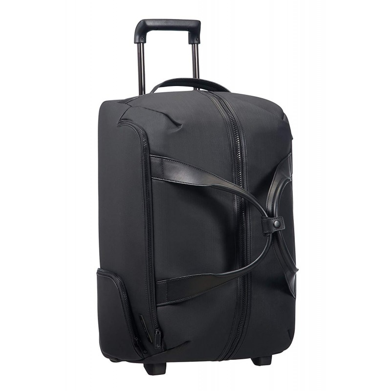 SAMSONITE Memphis - Wheeled Duffle Bag 55/20 Borsone, 55 cm, 59.5 liters, Nero (Black)