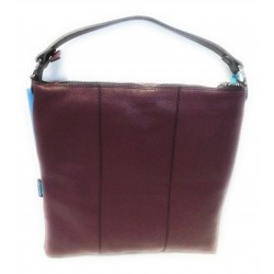 Sacca Trasformabile in pelle Sofia Bordeaux  Made in Italy 38x39 cm