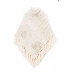 Desigual Knitted Poncho Soft Grigio 18WAIF10 1001