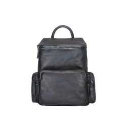 Il Borsaro Zaino In pelle Vintage Nero  39x33x10 cm Made in Italy